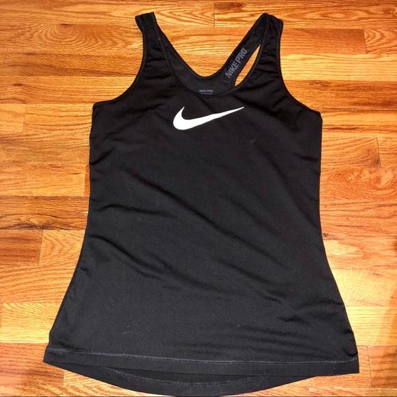 Nike Pro Athletic Dri-Fit Workout Logo Tank Top